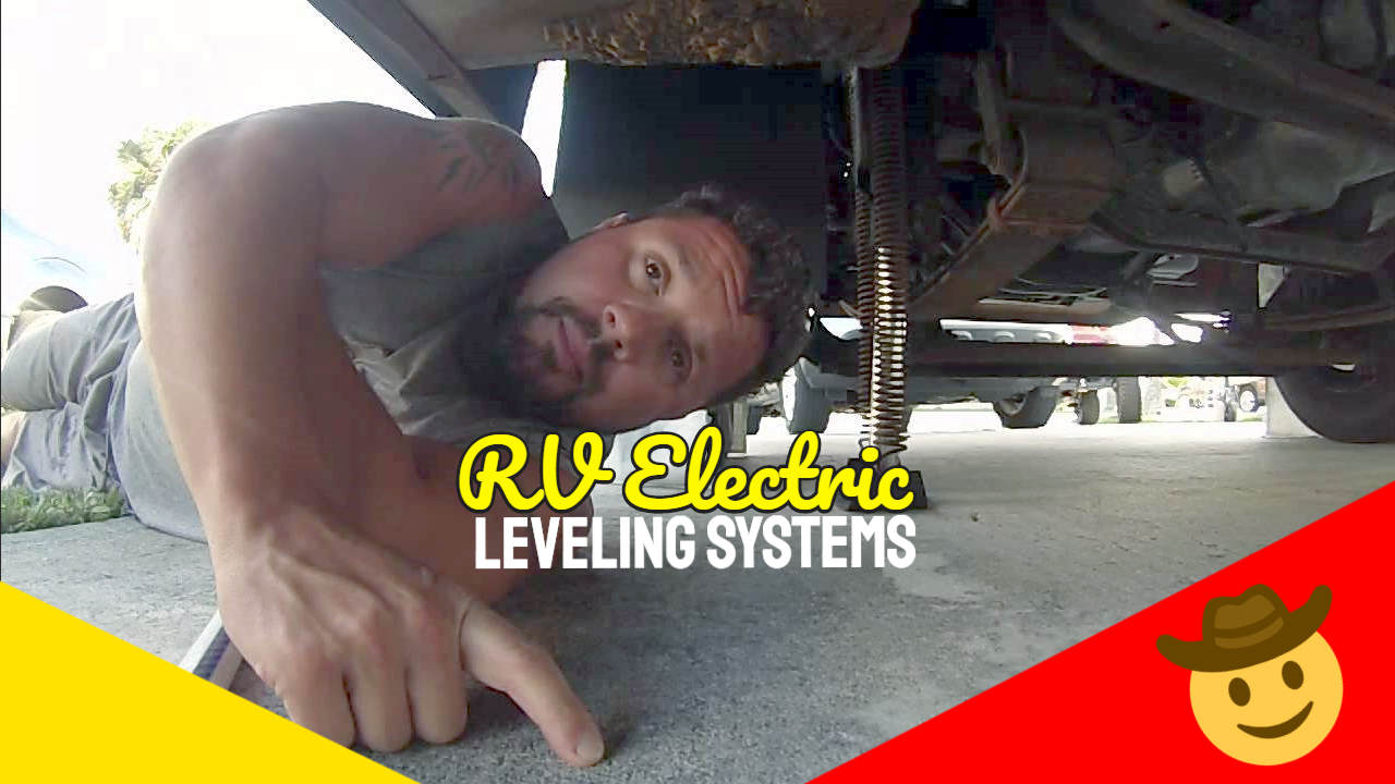 """Image text: """"RV Electric Leveling Systems""""."""