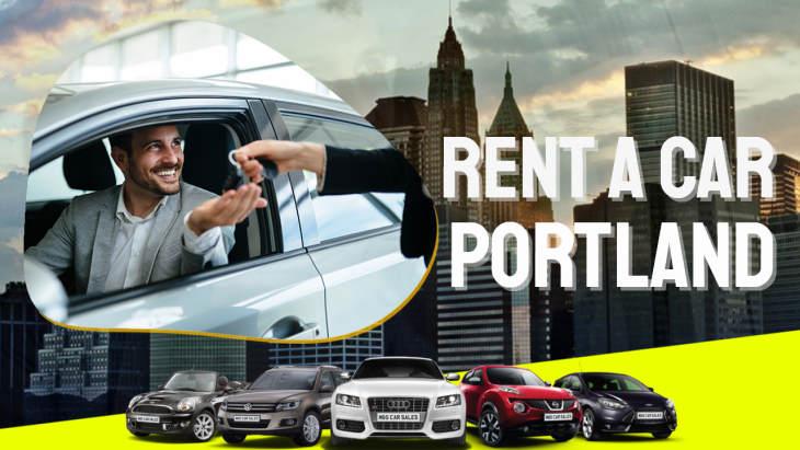 """Image text: """"Rent a Car Portland""""."""