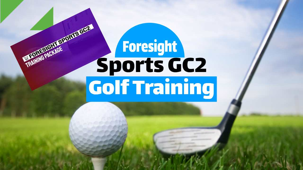 "Featured iimage text: ""Foresight Sport GC2 Training Package""."